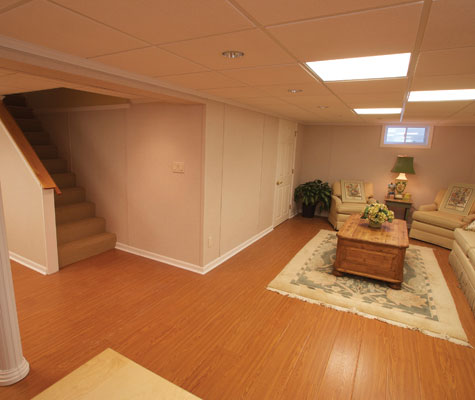 Beautiful wood laminate basement flooring in mn and wi for Laminate flooring mn