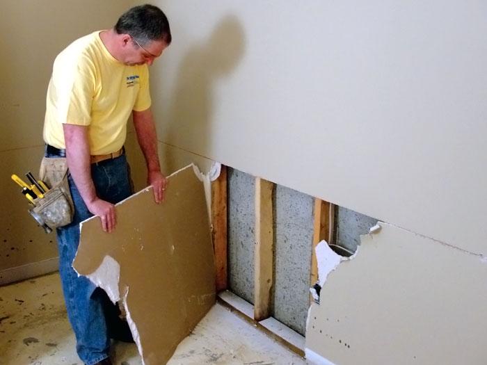 Basement Drywall Repair Panels In Greater Duluth