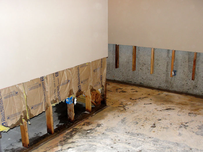 basement drywall repair panels in greater duluth basement drywall