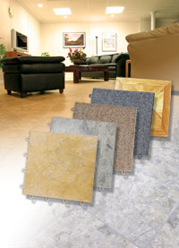 Basement Flooring in a home in Brainerd, Minnesota and Wisconsin