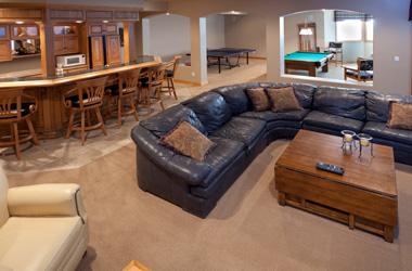 Waterproof Basement Floor Matting Installed In Minnesota