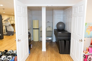 TBF finished basement with home gym in Duluth